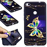 99 cent free shipping - Huawei P8 Lite (2017) Case, FIREFISH Flexible TPU Gel Silicone Embossed Printing [Anti Slip] [Scratch Resistances] Easy Grip Back Cover Shell for Huawei P8 Lite (2017) -Butterfly-A