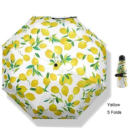 V-parasol Mini Paraguas Ligero Paraguas Plegable del Viaje Paraguas ...