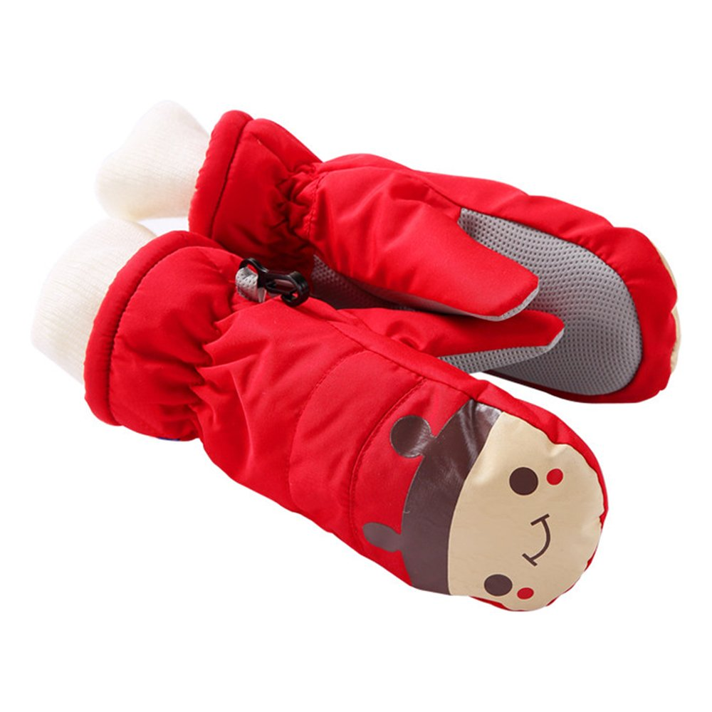 Eastlion Children Skiing Mittens Winter Thickening Outdoor Mittens Lengthening Boys and Girls Gloves