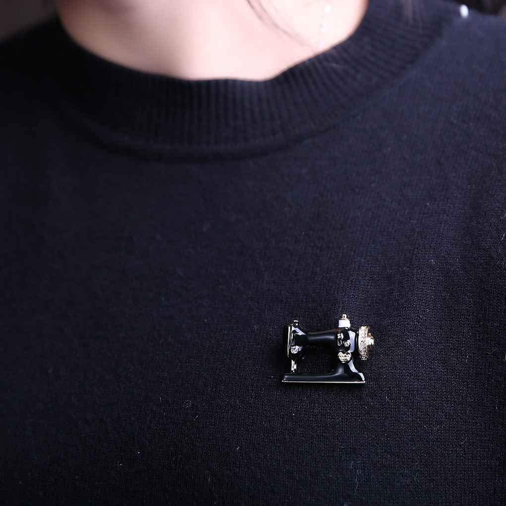 Unico Macchina da cucire Spilla Donne Pin Spille smalto Giacca di jeans gioielli della decorazione del sacchetto Pin Badge regalo