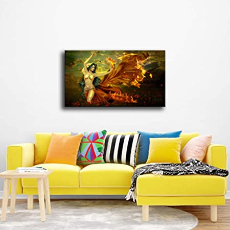 WSNDGWS Home Wall Modern Wall Art Dancing Flames Decoración ...