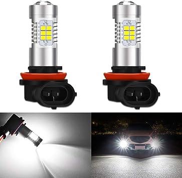2x 9005 HB3 6000K White 2835 SMD 16 LED Daytime Running Fog Light Bulbs DRL 80W