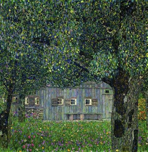 Oil Painting 'Gustav Klimt-Farmhouse In Upper Austria,1911-1912' Printing On Perfect Effect Canvas , 12x12 Inch / 30x31 Cm ,the Best Living Room Decoration And Home Decor And Gifts Is This Beautiful Art Decorative Canvas (Hamilton 12