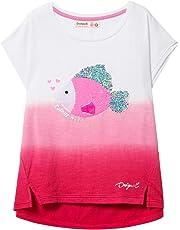 906f0fad0 Desigual Girl Knit T-Shirt Short Sleeve (TS Fish) Camiseta para Niñas