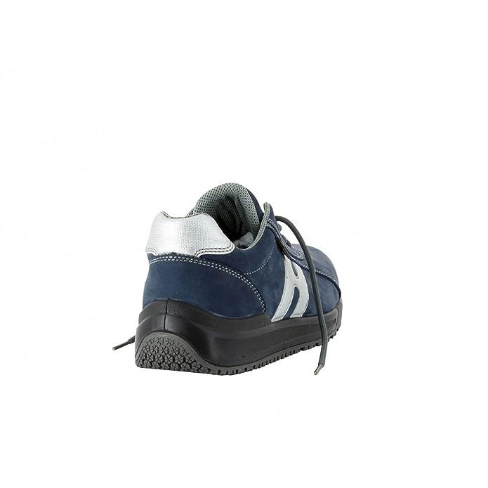 Cavalier Foxter - Chaussures Basses De Sécurité - Confort Type De Chaussures - Léger Et Respirant - Hommes / Unisexe - S1p Src, Gris (cuir), 37