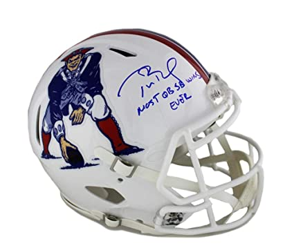 check out 3f02c dc3af Amazon.com: Signed Tom Brady Helmet - Riddell Authentic Full ...