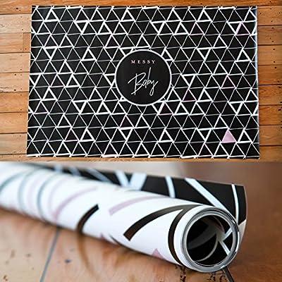 Amazon.com: Mess Mats – Rosa y diseño negro, Splat Mat ...