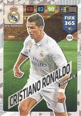 Amazon Com 2017 18 Panini Fifa 365 Adrenalyn Xl 133 Cristiano Ronaldo Real Madrid Cf Made In Italy By Panini S P A Modena Futbol S Collectibles Fine Art