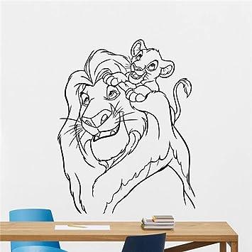 Lion King Tatuajes de pared Dibujos animados Etiqueta de vinilo ...