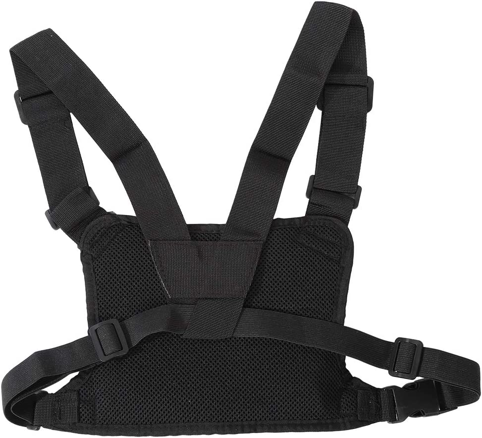 Oumij Universal Hands Free Chest Harness Bag Holster Chest Harness Front Pouch Bright Yellow Chest Harness Chest Front Pack Pouch Holster Vest Rig Carry Case for WalkieTalkie