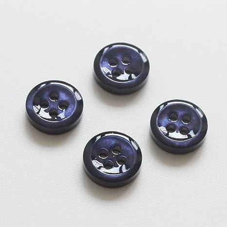10 piezas auténtica azul madre de perla camisa botones -18l (11.5 mm) y 3 mm de grosor azul MOP Shell Botones para camisas: Amazon.es: Juguetes y juegos