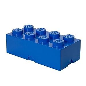LEGO Storage by Room Copenhagen Storage Box Brick 8 Bright Blue, Large, Brigt