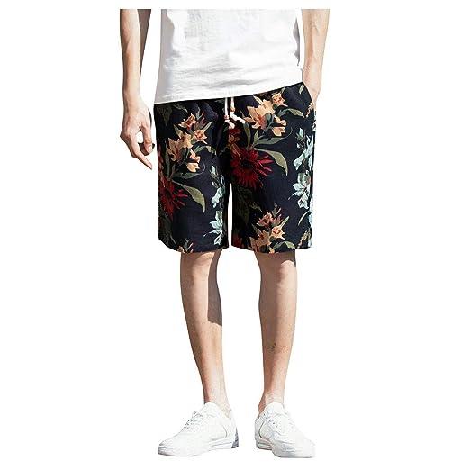 e26de849b0 Shorts for Men F_Gotal Men's Plus Size Fashion Printing Drawstring Waist  Cotton Hemp Bohemian Pants Shorts Sweatpants at Amazon Men's Clothing store: