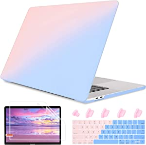"""May Chen Laptop Case for MacBook Pro 13"""" (2019/2018/2017/2016) w/Keyboard Cover and Screen Protector Plastic Hard Shell Case A2159/A1989/A1706/A1708 Touch Bar 3 in 1 - Gradient Pink"""