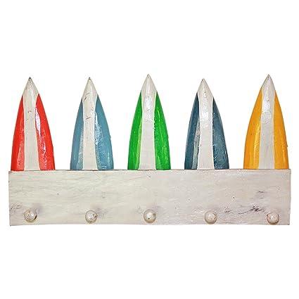 50 cm x 28 cm), diseño de llaves/Coat Hanger rack con tablas ...