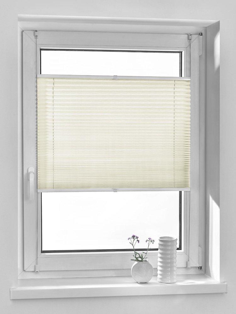 Vidella Tenda oscurante a pieghe comfortino, montaggio a vetro, crema, PP-1, W: 64cm/L: 160cm PP-1 64