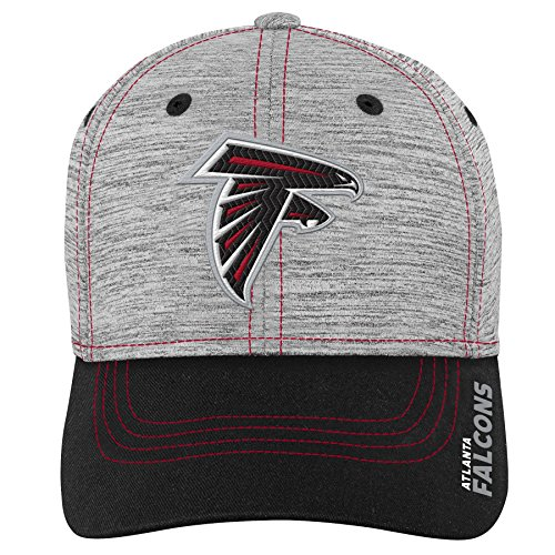 Outerstuff NFL NFL Atlanta Falcons Youth Boys Velocity Structured Flex Hat Heather Grey, Youth One ()