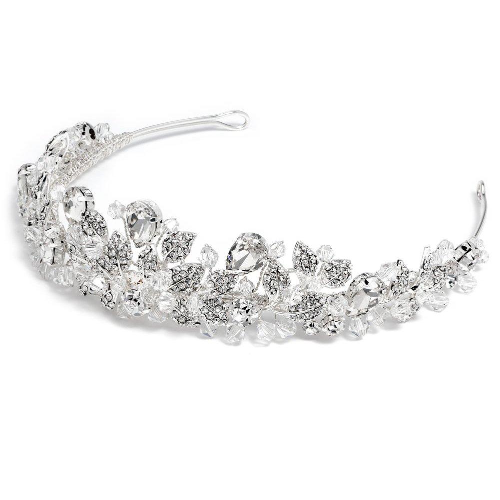 USABride Swarovski Crystal and Rhinestone Bridal Tiara Wedding Crown 3100 by USABride