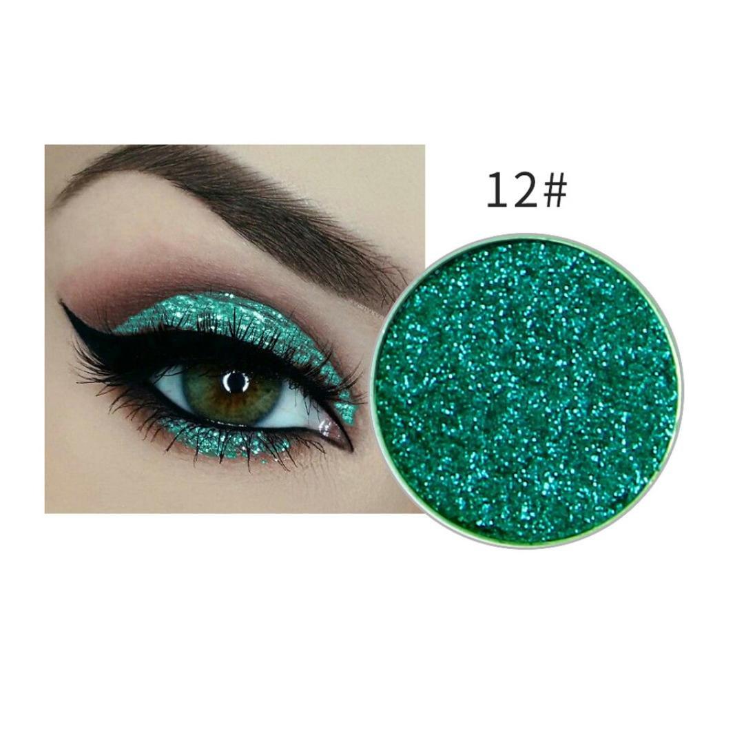 Clearance Promotion Shimmer Glitter Eye Shadow Powder Palette Matte Cosmetic Makeup Eyeshadow (L)