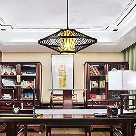 GENGJ Linterna China/Simple/Creativa/Lámparas de bambú Antiguas de bambú de la lámpara/Estilo del sudeste asiático/Restaurante/Retro japonés/Lámpara de lámpara de bambú, marrón (50 * 20 cm): Amazon.es: Hogar