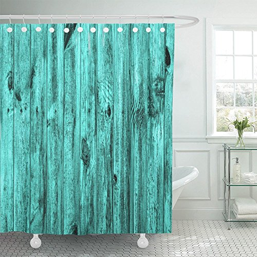 Antique Pine Laminate Flooring (Emvency Shower Curtain 72x72 Yellow Beech Wall of Turquoise Wood Macro Antique Ash Blockhouse Board Carcass Carpentry Cherry Water Soap Mildew Resistant Machine Washable Hooks Included)