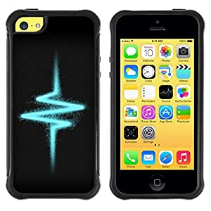 Planetar® ( Heartbeat Pulse Electrical Vibe ) Apple iPhone 5C Hybrid Heavy Duty Shockproof TPU Fundas Cover Cubre Case