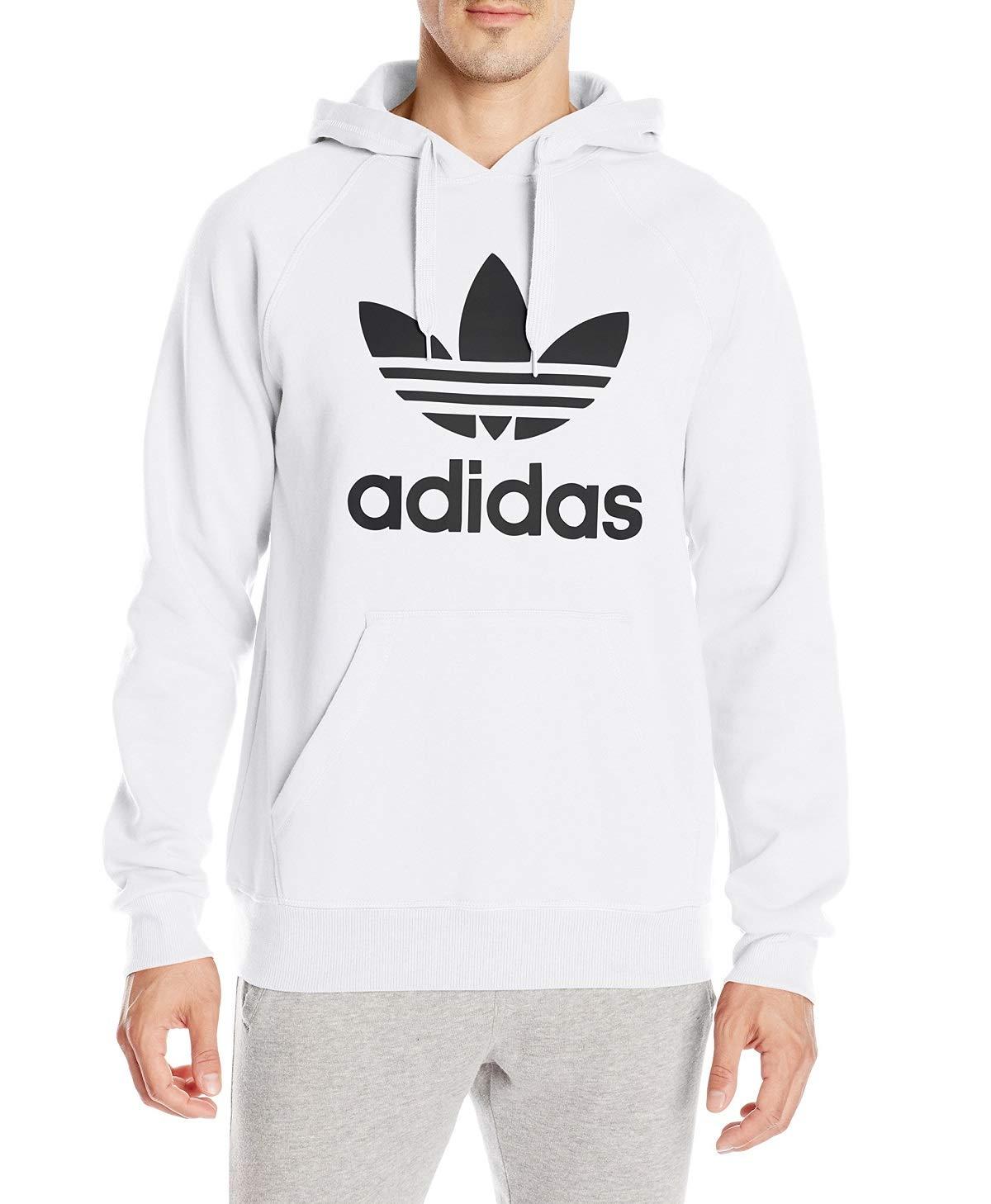 adidas Originals Men's Trefoil Hoodie, White/Black, X-Large by adidas Originals
