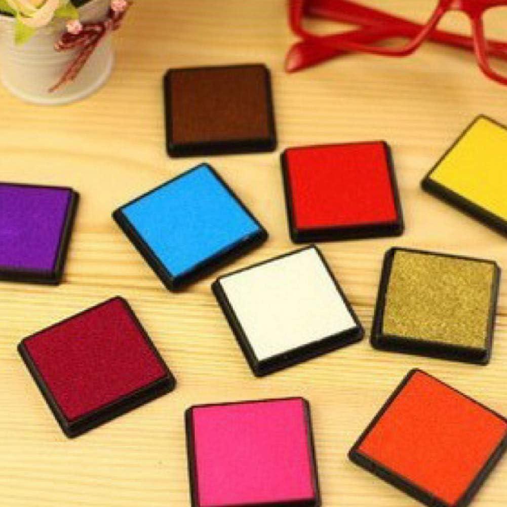 6PCS//Set Portable Square Ink Pad Stamp Partner DIY Craft Non-Toxic Colorful Ink Pad 6
