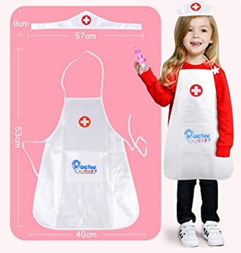 c7534f3c93338 Chbmarteu Nurse costume show suit, apron child show nurse costume, role  play nurse,