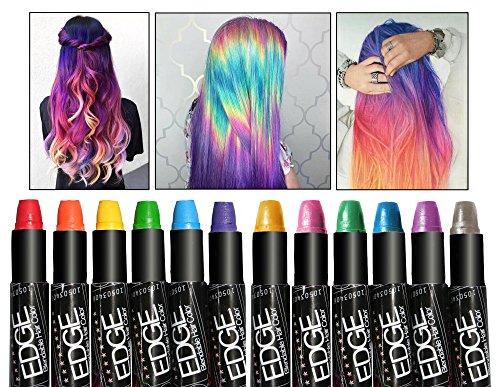 KC Republic Hair Chalk for Girls, 12 Pack, Multicolor -