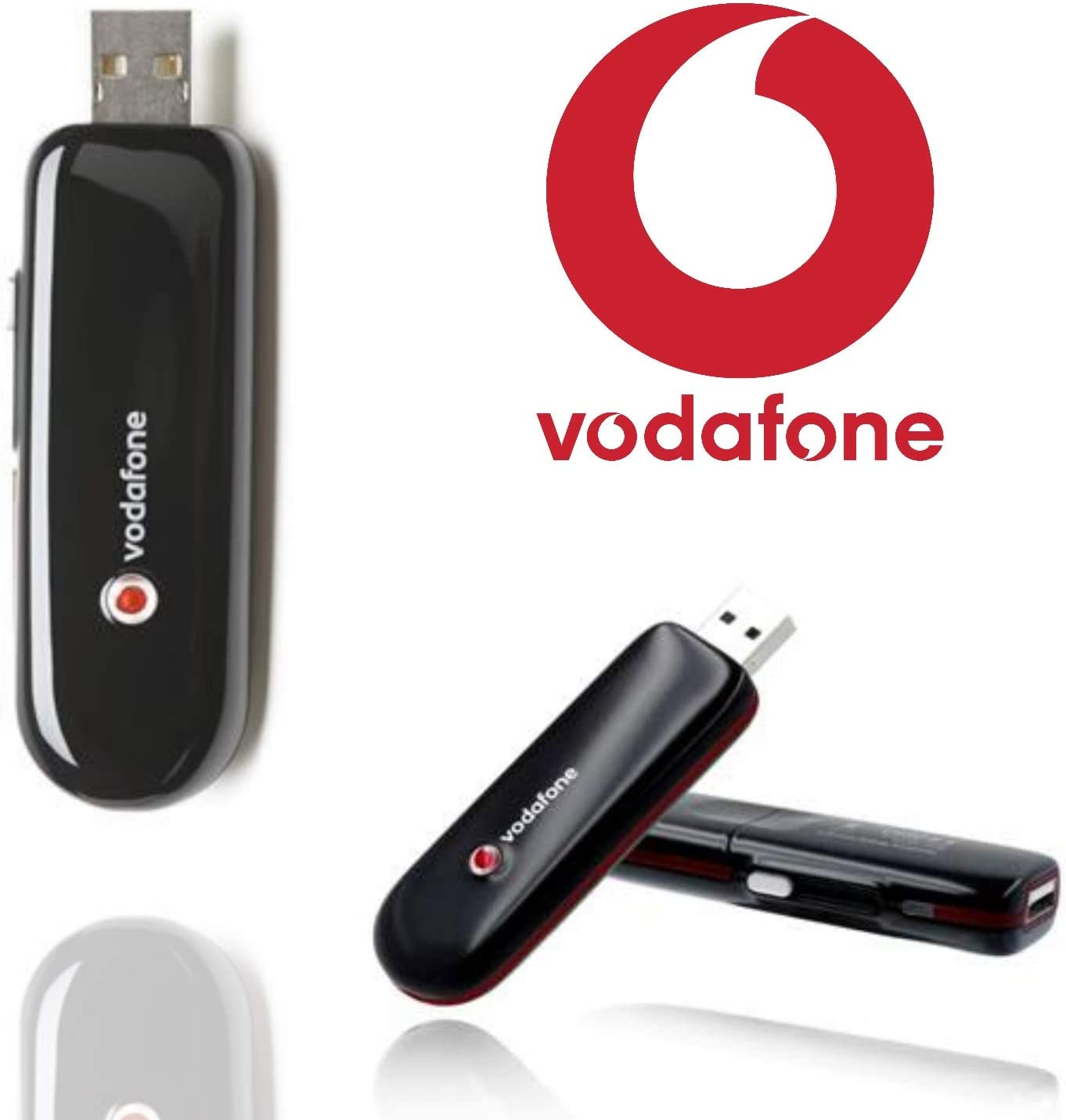 Vodafone K3760 USB Modem Stick Pro Mobile Laptop Broadband Internet Black