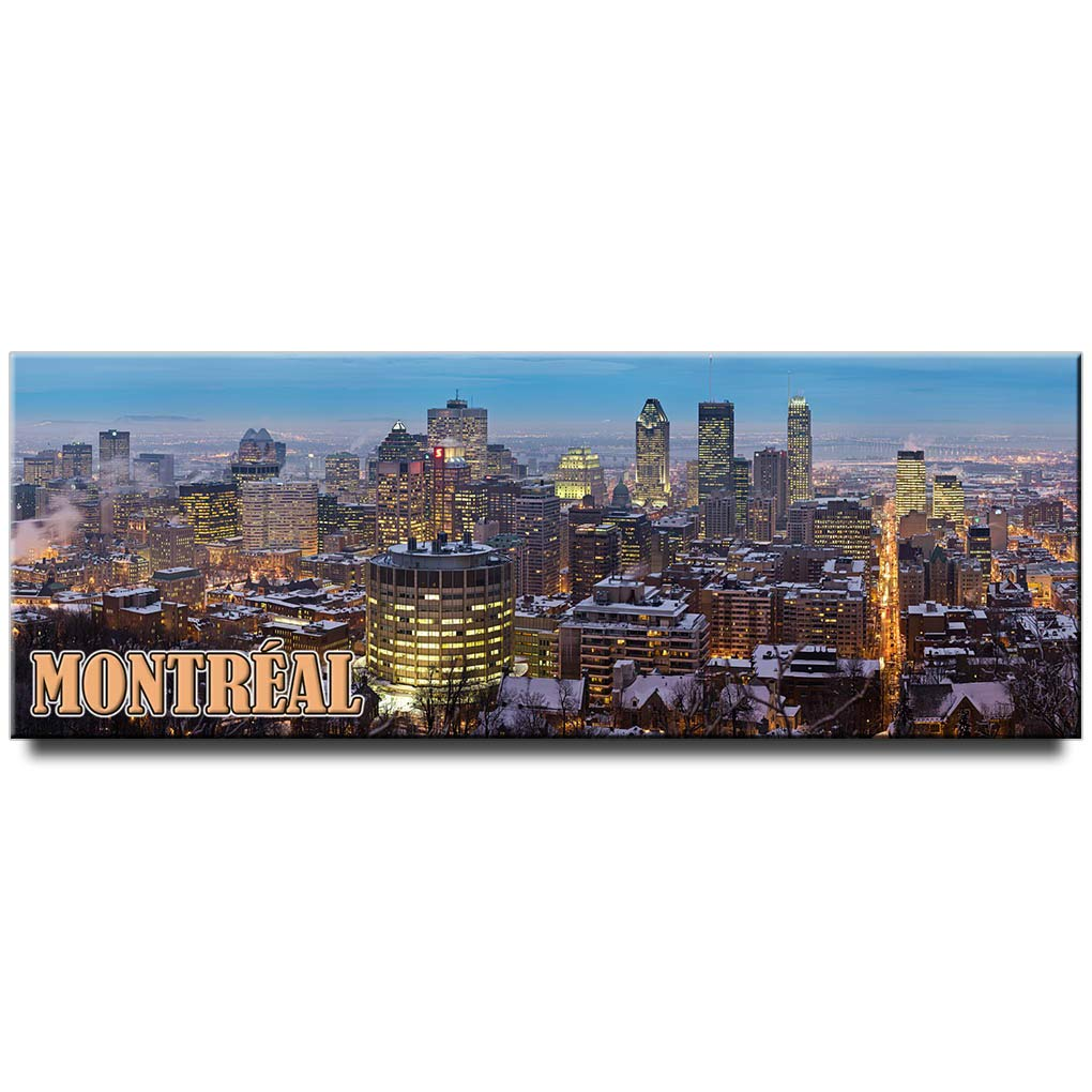 Montreal panoramic fridge magnet Quebec travel souvenir Canada
