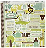 Bundle Of Joy Boy Cardstock Stickers 12'X12'-Element