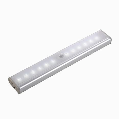 Beichen - Sensor de Movimiento con 10 Luces LED para Debajo del Armario con Tira magnética