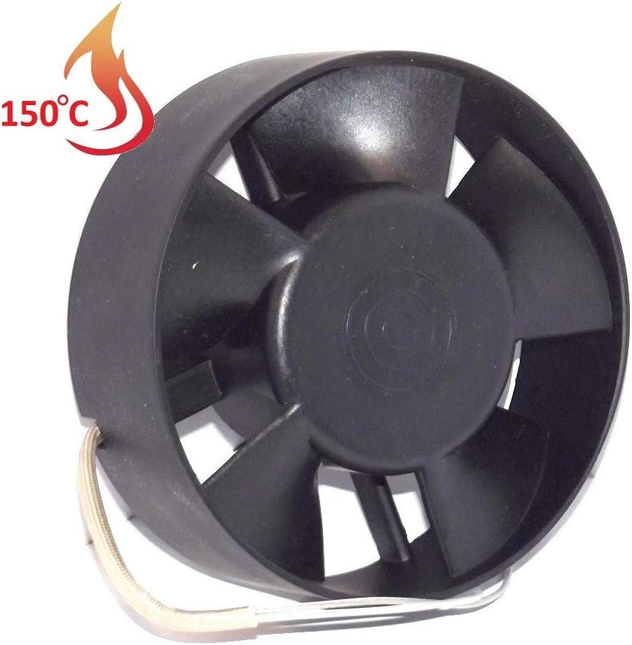 Ventilador Extractor de Alta Temperatura 150°C para conductos Circulares 120 mm Rodamiento a Bolas NSK Japón Double Sellado de Larga Vida de 30.000 Horas