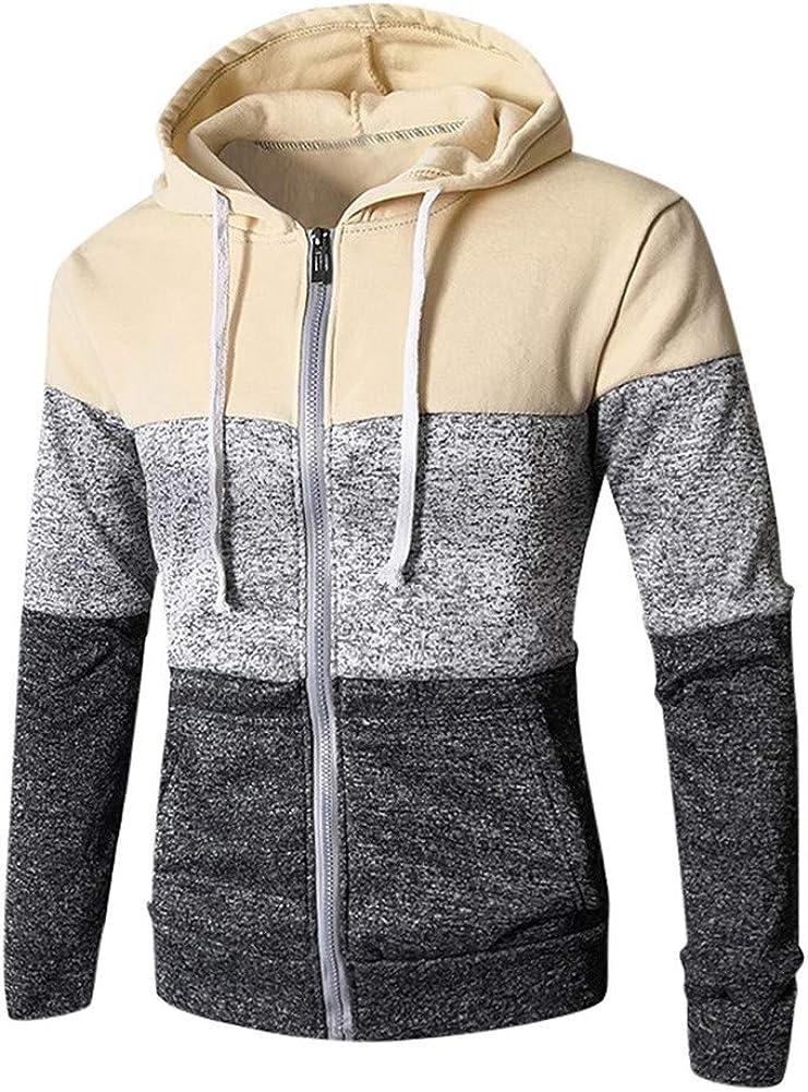 Vickyleb Mens Pullover Hoodie,Mens Gradien Color Printing Hoodies Long Sleeve Casual Sweatshirt Hoodies Top Blouse Tracksuits