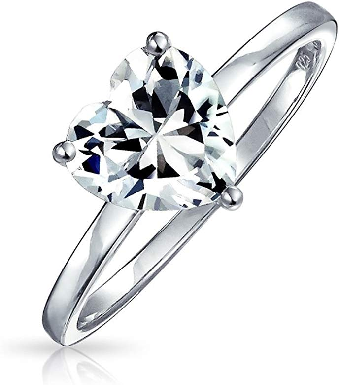 7 Cutedoumiao Cushion Love Heart CZ Engagement Rings for Women Cubic Zirconia Promise Halo Engagement Ring 925 Sterling Silver Solitaire Engagement Ring
