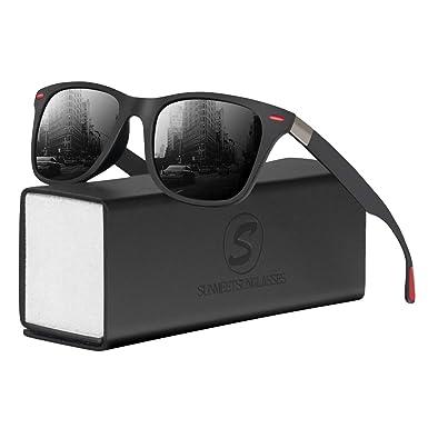 SUNMEET Gafas de Sol Polarizadas Hombre Mujere para Conducir Deportes100% Protección UV400 Gafas para Conducción