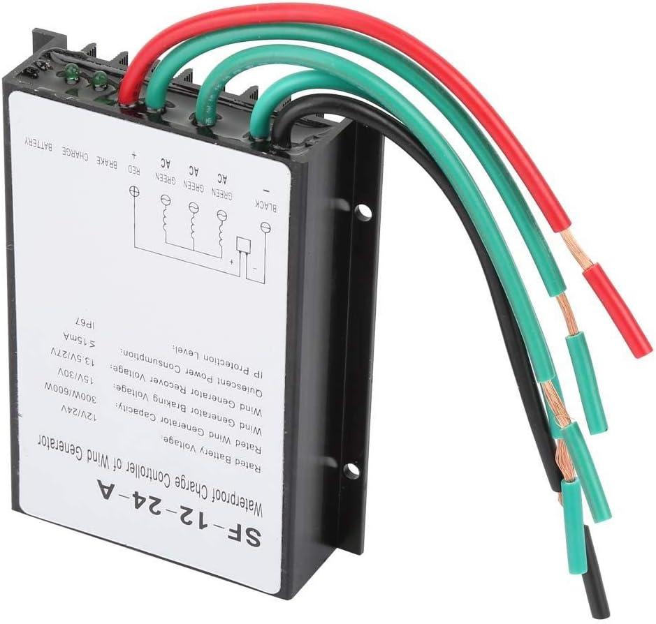 Aufee Controlador de turbina eólica, regulador de Controlador de Carga de generador a Prueba de Agua de 12V / 24V 300W / 600W, para farola Solar y Todo Tipo de Sistema de Suministro de energía