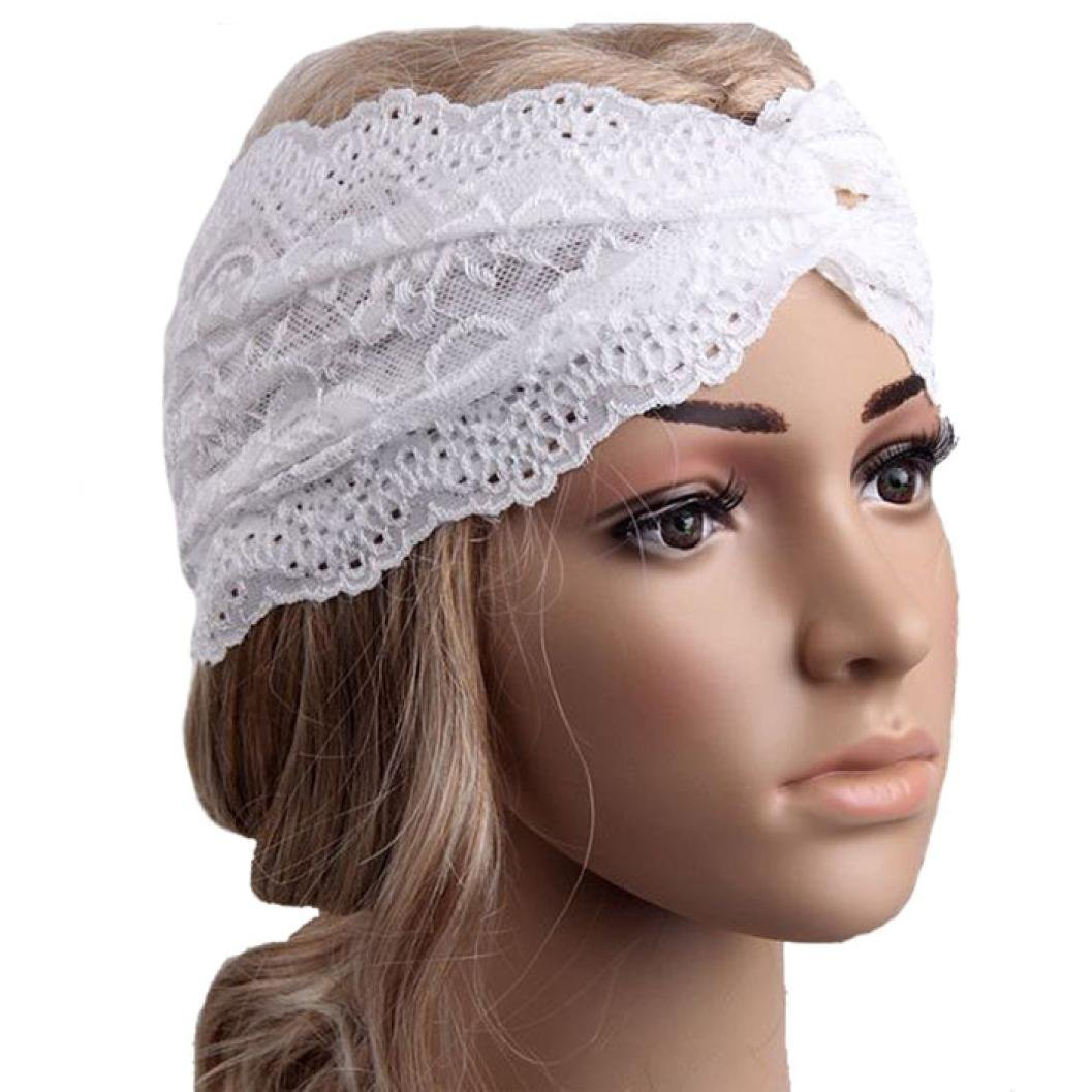 Wilotick Lace Twist Head Wrap Headband Sport Yoga Turban Headscarf Hair  Band Headwear For Women (black)  Amazon.co.uk  Sports   Outdoors 33912a0b0c4