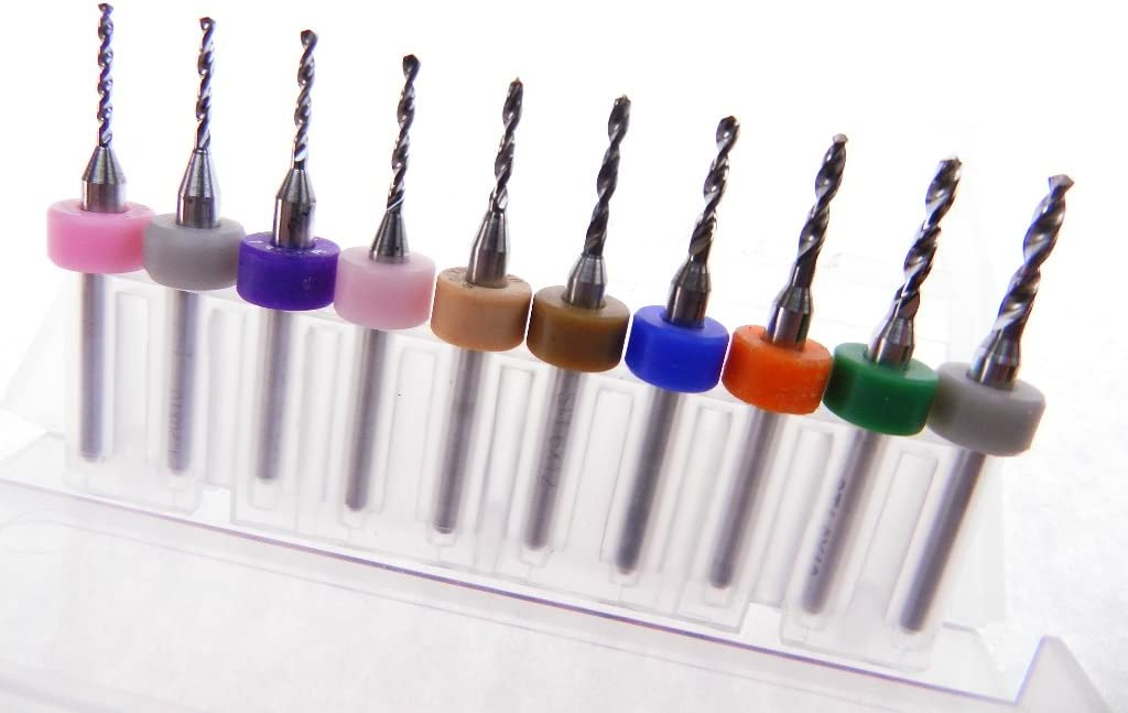 10 pack 1.1mm to 2.0mm Tungsten Micro Drill Bits Multi-use Installation Crafts Toy Making Miniatures more.. Modeling