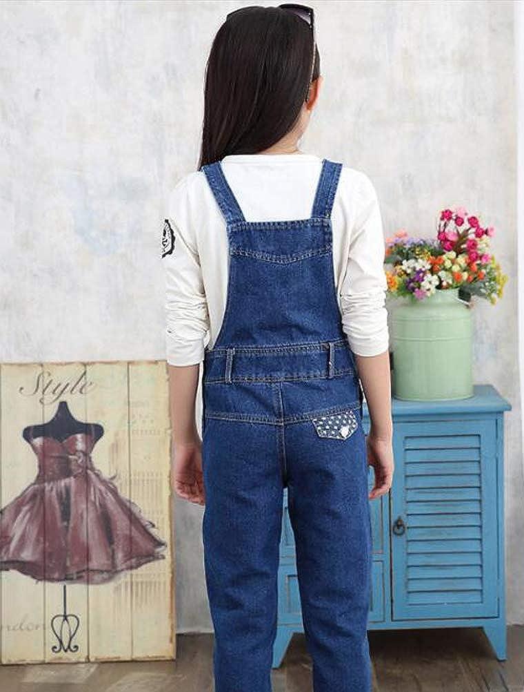 Mallimoda Boys Girls Denim Bib Overalls Jeans Jumpsuit