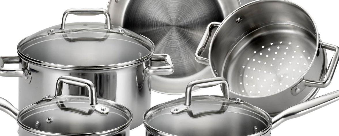 T-fal tri-ply stainless steel cookware