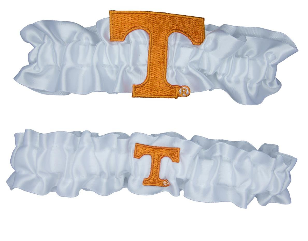 Divine Creations NCAA Tennessee Volunteers Satin One To Keep One To Throw Garter Set, Orange/White, One Size
