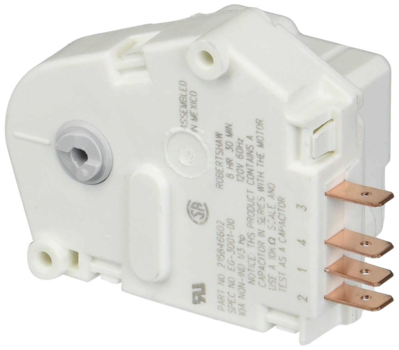 PART # 215846602 OR AP2111929 GENUINE FACTORY OEM ORIGINAL REFRIGERATOR DEFROST TIMER CONTROL FOR FRIGIDAIRE AND WHITE WESTINGHOUSE