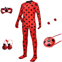 Halloween Costume For Kids Girl - Red Ladybird Little Beetle Dress Up Suit Jumpsuit Party Cosplay for Teen Toddler Child