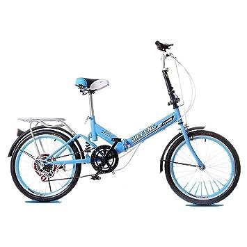 Paseo Bicicleta Plegable Bicicleta Universal 6 Tipos De Velocidad Variable 20 Pulgadas Rueda Bicicleta Portátil Hombres