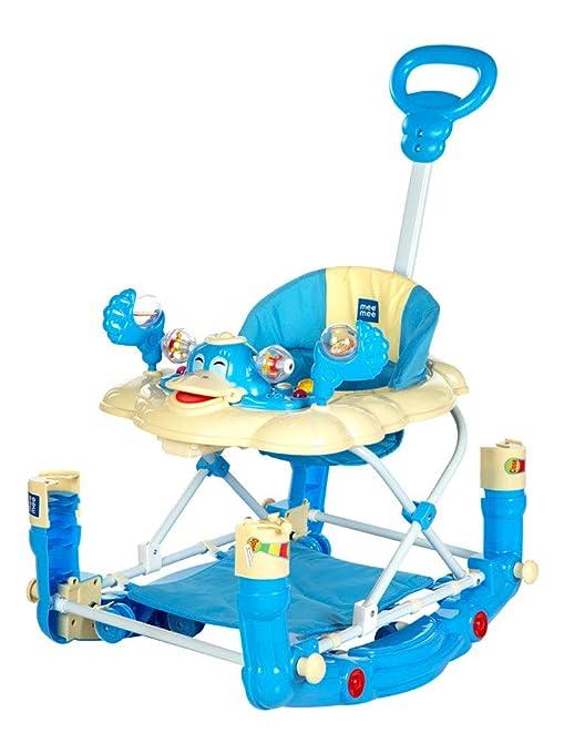 Mee Mee Baby Walker With Rocker Function 2 In 1 Blue