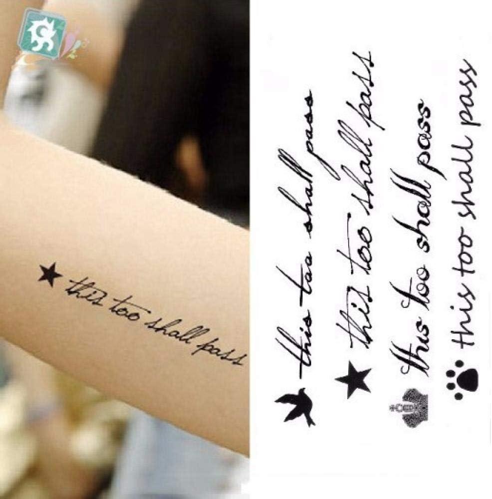 Etiqueta engomada del tatuaje temporal a prueba de agua Black ...
