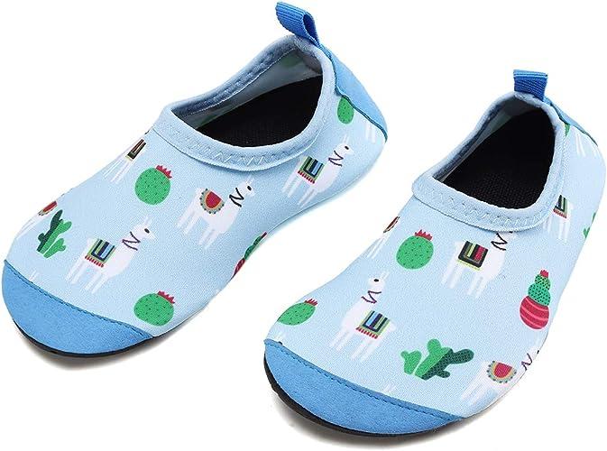 KIDS Blue /& Green WATER SHOES Aqua Socks Swim Beach Pool Waterpark Size 12//13